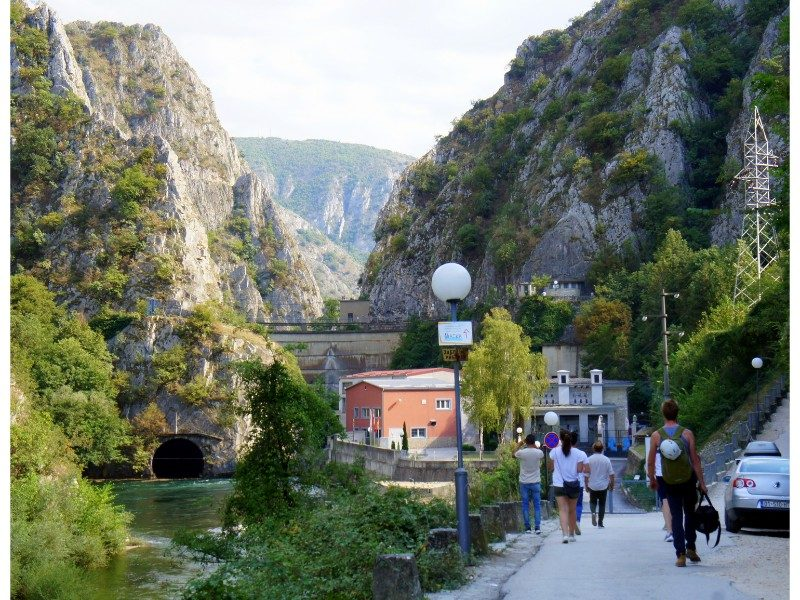 Skopje Macedonia Vardar River mountains rock climbing