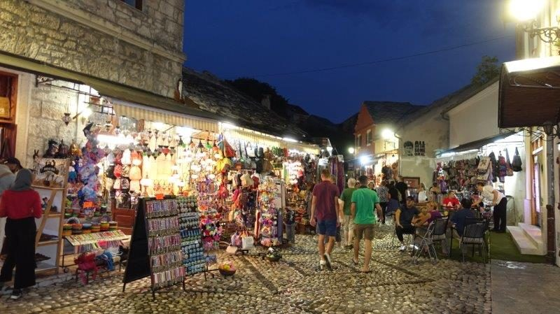 Nighttime open markets, perfect for souvenir shopping