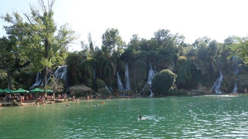 Stunning view of cascading waterfalls | Bosnia Waterfalls