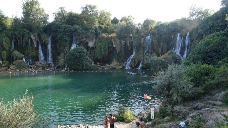 Kravica Waterfall is a spectacular waterfall made up of 20 different falls