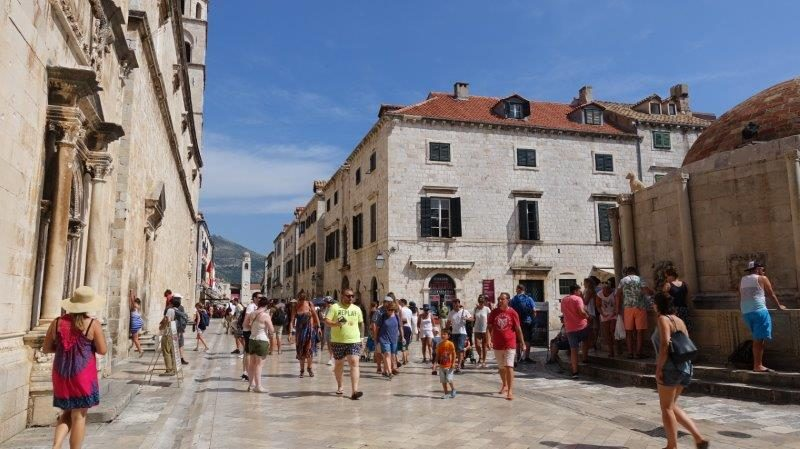 Busy streets in the Old Town of Dubrovnik