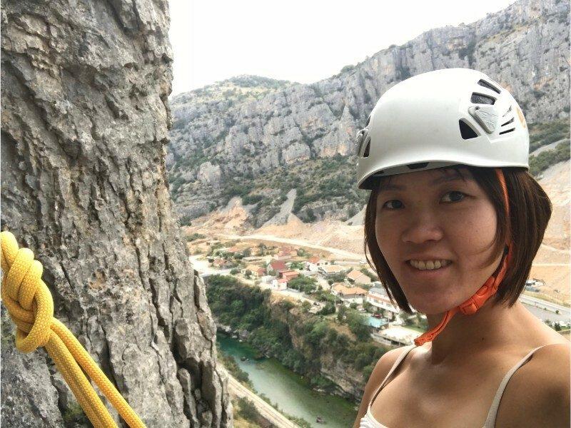 Helmet rock climbing equipment