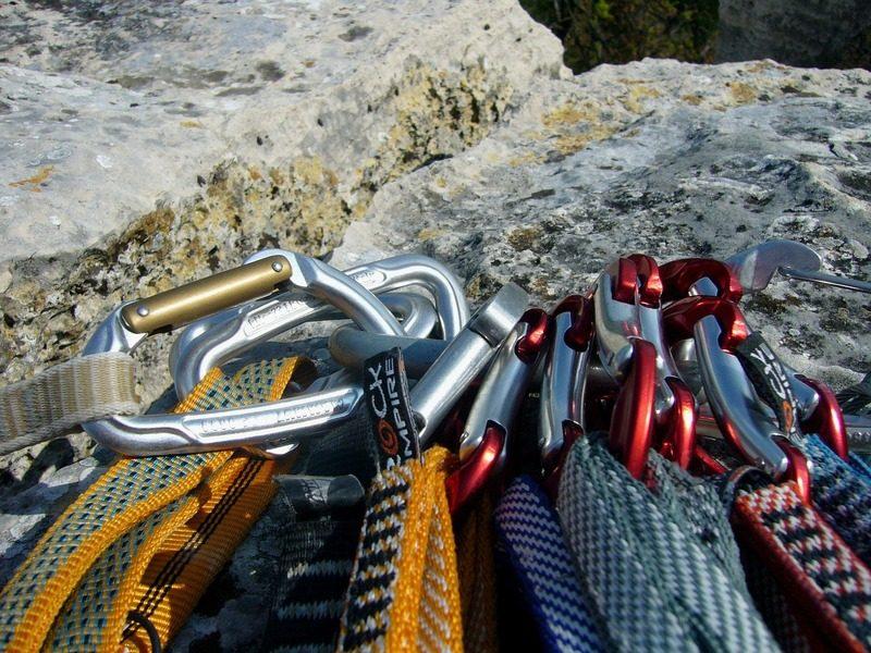 Rock climbing gear carabiner