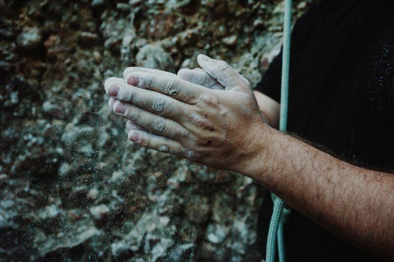 Rock climbing climbing chalk