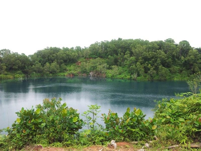Beautiful blue quarry at Pulau Ubin Island