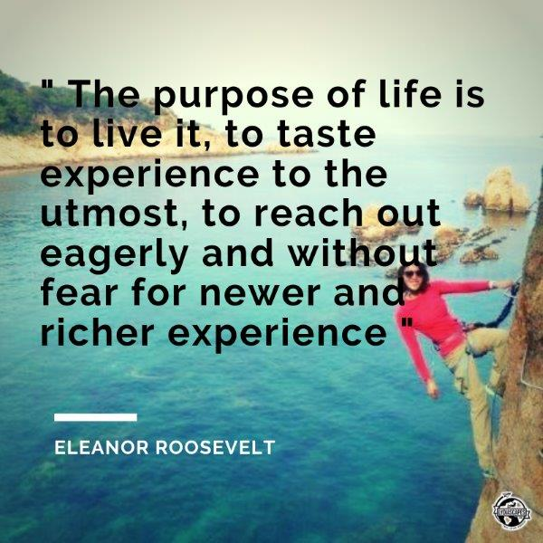 Island vacation quotes #16 -  Eleanor Roosevelt  and photo taken in Spain doing Via Ferrta