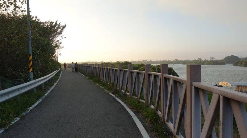 Scenic Cycling Path at sunset going towards Taijiang National Park