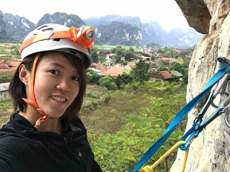 View from the top of the climbing route at Huu Lung Hanoi | Climbing Vietnam
