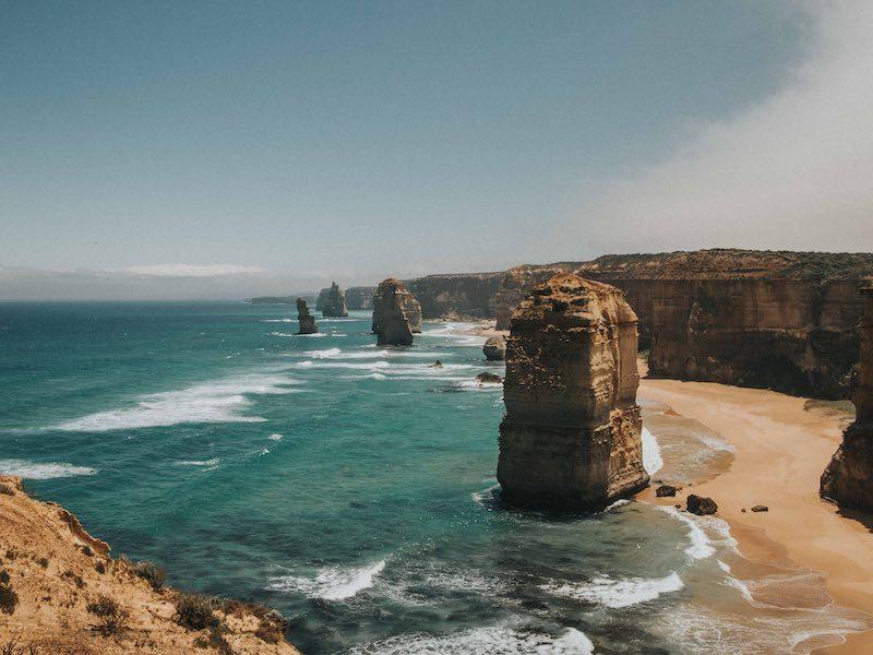 Imagine climbing these seaside cliffs on the Australian coast.