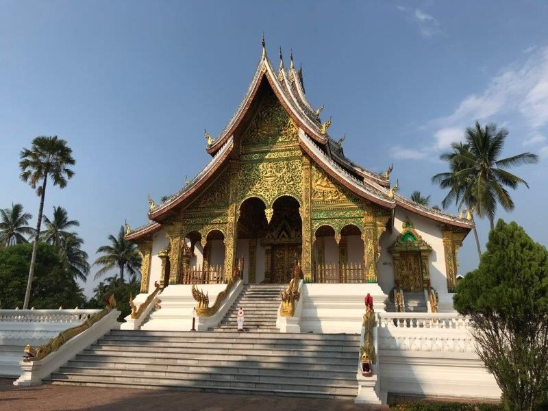 Beautiful temples here in this area like the Xieng Thong Temple