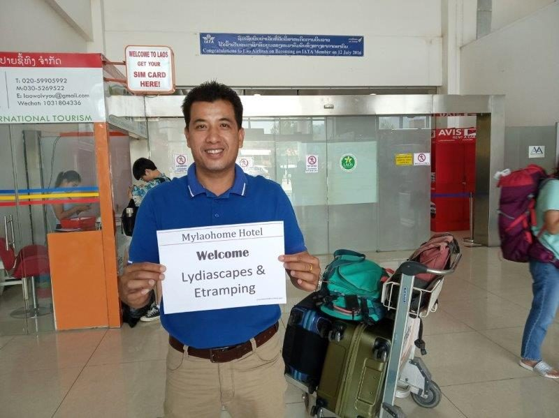 Warm welcome to Laos by MyLaoHome Hotel at Luang Prabang Airport - upon arrival from Singapore. We were sad to say goodbye after spending a good  week in Luang Prabang