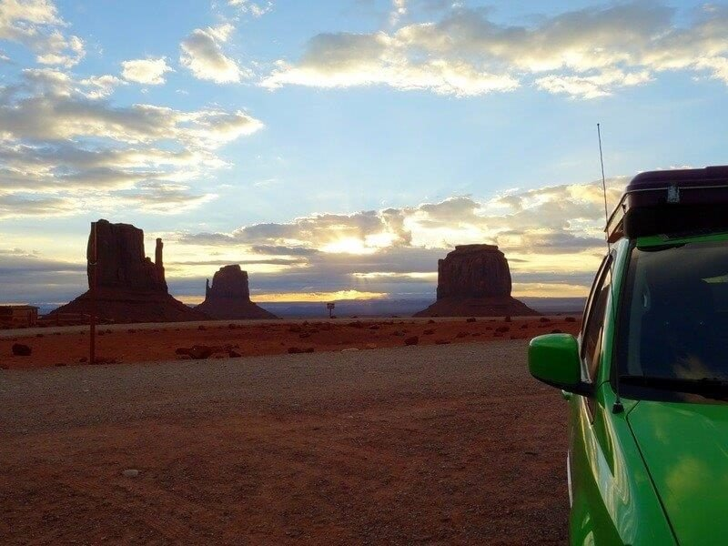 Camping at The View Campground at Monument Valley in Utah at Arizona border | Motorhome Holidays