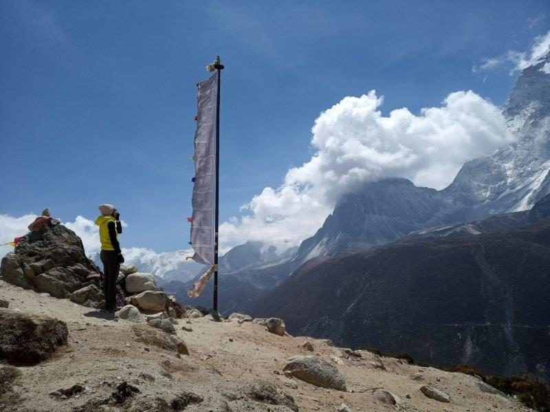 Great view and incredible skies on our EBC Trek in Nepal