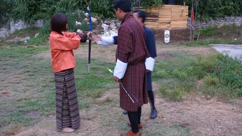 Try the National Sport of Bhutan - Archery