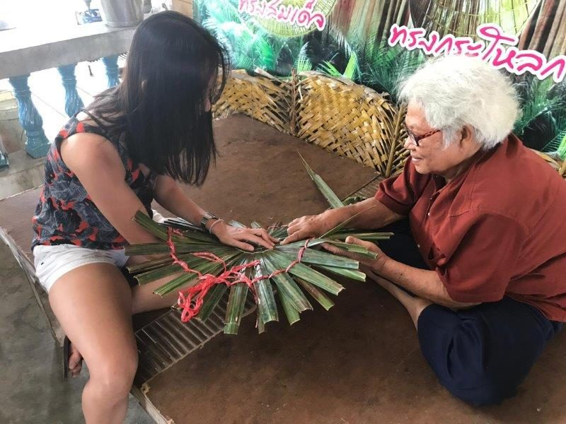Activities to do in Trat - hat making with palm leaves