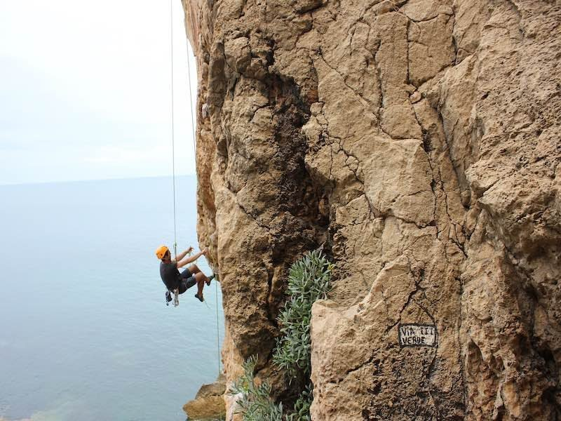 Imagine climbing next to the sea!