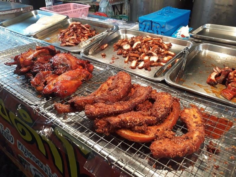 Street food found at the Trat local night market