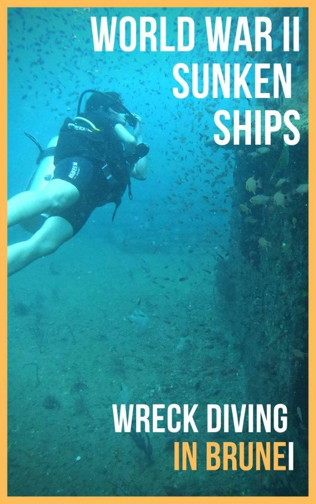 Top Wreck dive spot for advance divers - Bolkiah Wreck