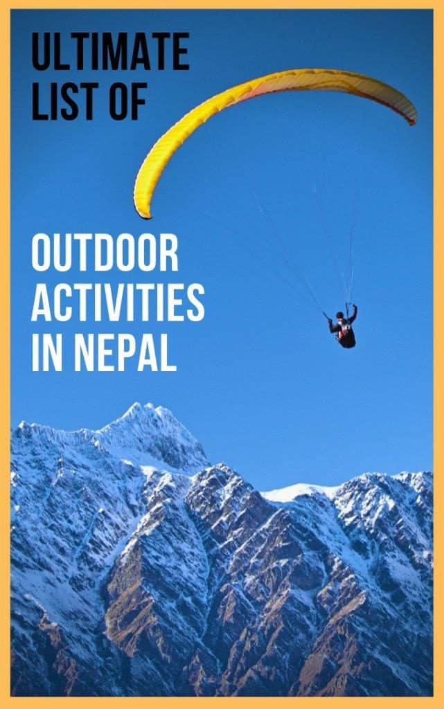 Himalayan Adventure Activities | From Rafting, Paragilding to Skydiving in Nepal