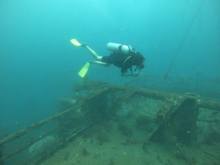 Check out that wreck. Highlights of Wreck Diving in Brunei