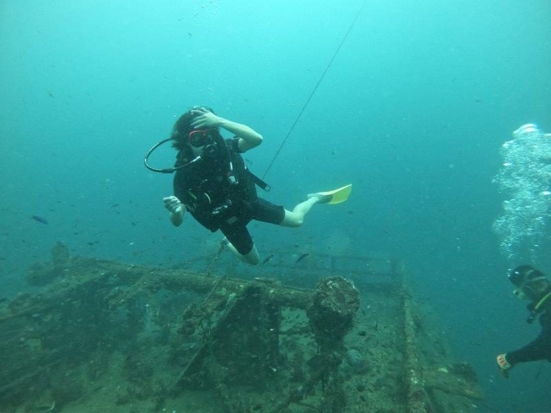 Bolkiah wreck, a mid-sized wreck that is fun for divers of all experience