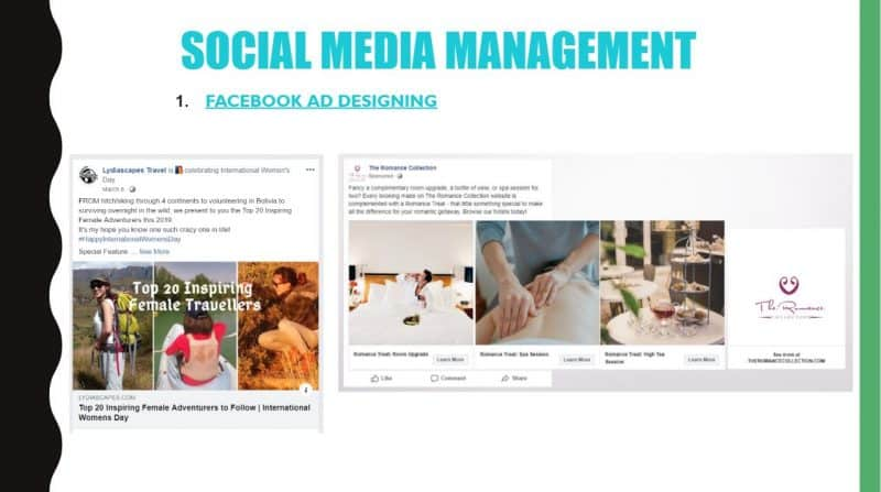 Social Media Management Facebook Ads Lydia Yang Digital Marketing Training