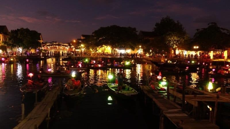 The night scene in Hoi An