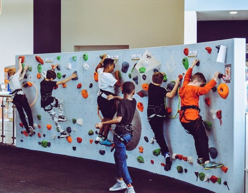 kids rock climbing wall