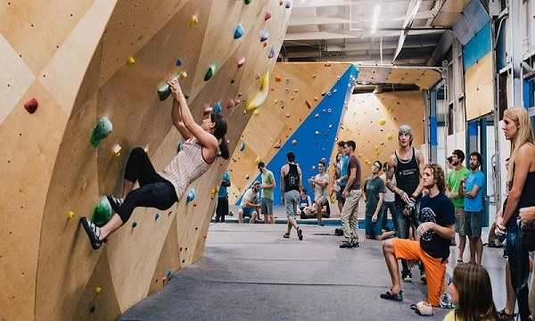 Rock climbigng is way more fun than a conventional gym