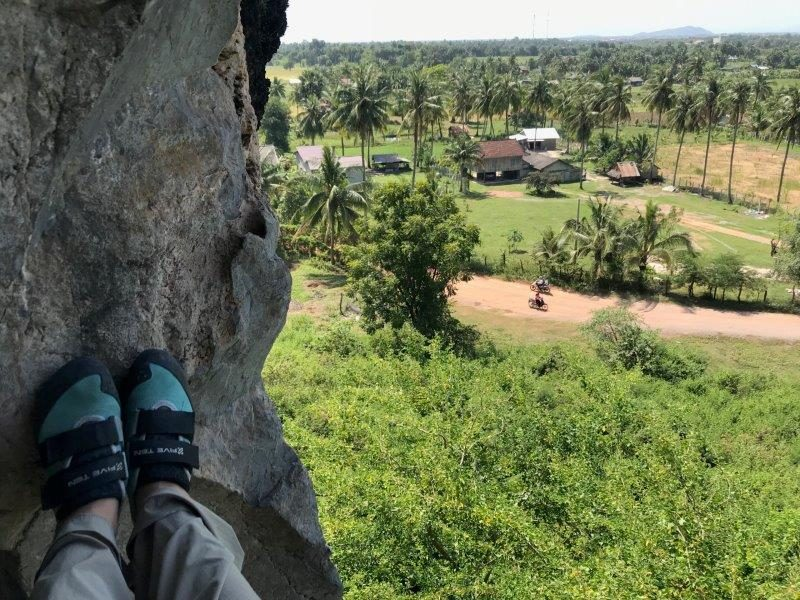 Rock Climbing in Kampot Province in Cambodia