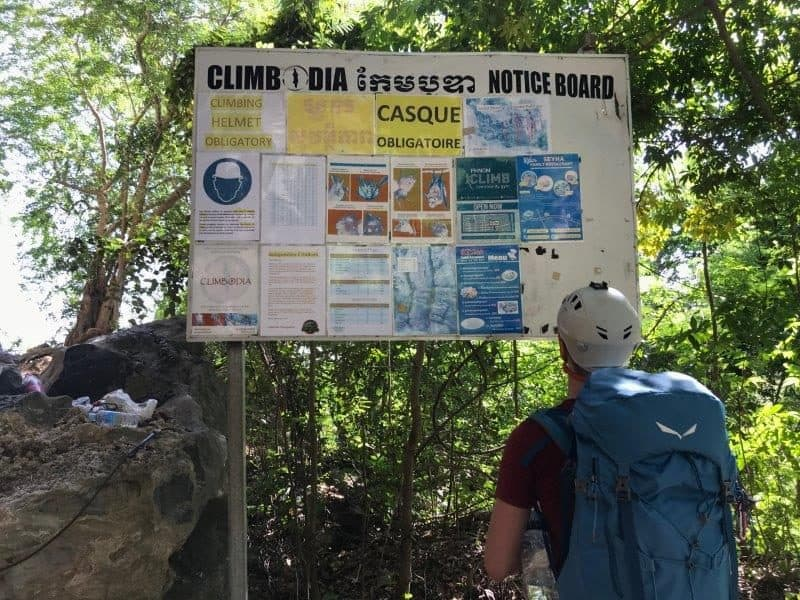 Instructions to note at the climbing site before you start climbing in Kampot