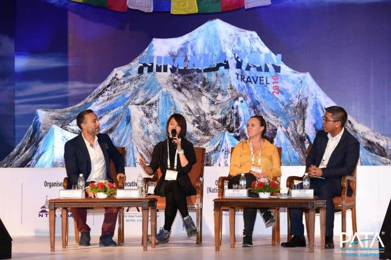 Lydia Yang Panel Session at Himalayan Travel Mart in Nepal on Digital Marketing in the Travel industry