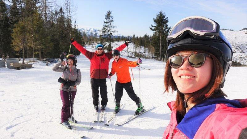 beginner skiing in Tatras mountains