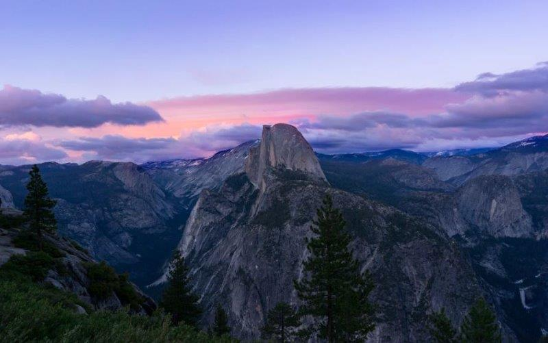 This is the iconic Glacier Point. Perhaps you can see why millions of people visit the park each year.