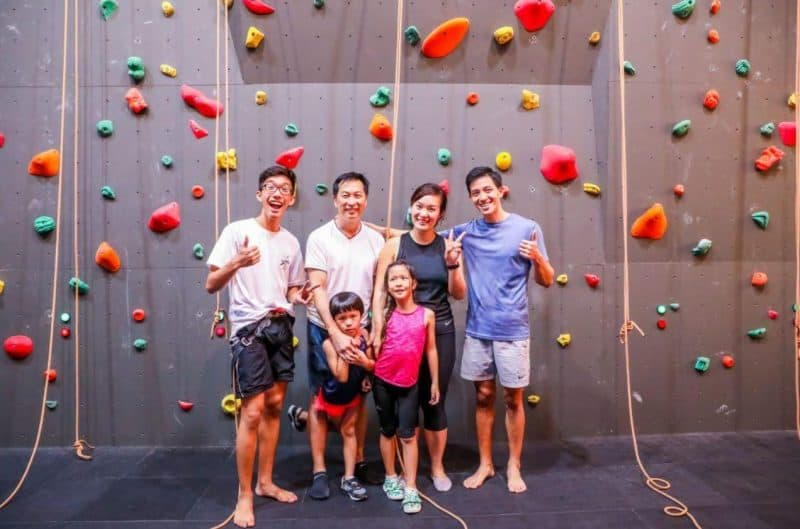 Verticlimb Singapore is an indoor, air-conditioned rock climbing gym
